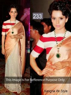 Kangana Ranaut Saree At Rajjo Film Music Launch by Vendorvilla.com