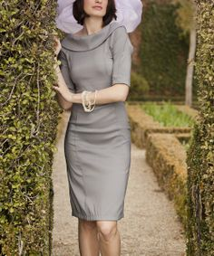 Gray Royal Wedding Boatneck Dress//...love the subtlety of the colours