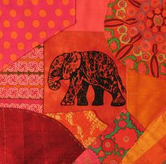 Indian fabric. Love the colours.