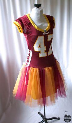 custom football sports tutu dress - handmade to order with YOUR JERSEY - bombshellsports. $161.00, via Etsy.