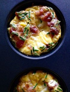 Bacon Egg Breakfast Bites with Chives {Paleo}