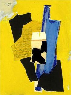 Robert Motherwell, Yellow Music, 1984 on ArtStack #robert-motherwell #art