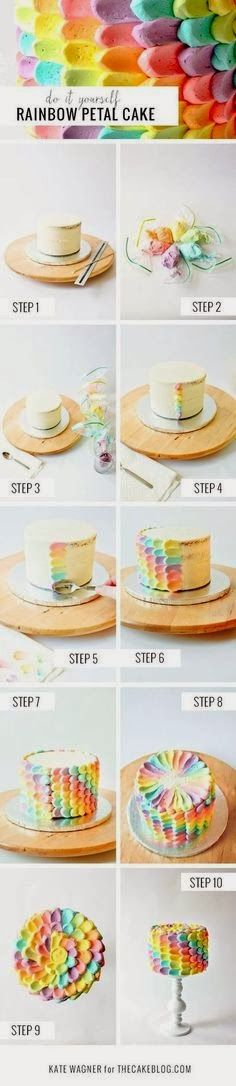 The Busy Bee: DIY Rainbow Cakes