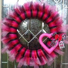 My DIY #Valentines Day tulle #wreath