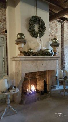 #limestone #fireplace #French #Italian #farmhouse #antique #reclaimed #stone #hearth #stove #handcarved