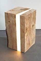 Image result for diy wooden lamp stands