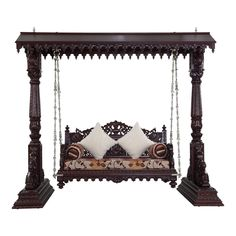Beautiful Carved Indian Traditional Royal Swings for USA Home Furniture Wood Sofa, Solid Wood Furniture, Teak Wood, Vintage Furniture, Hardwood Types, Luxury Furniture, Home Furniture, Early American Furniture, Wood Swing
