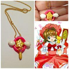 Colar chave estrela do anime SAKURA CARD CAPTORS! <br> <br>Veja as fotos para mais detalhes do produto. <br> <br>Produto artesanal feito em biscuit. <br> <br>Acompanha corrente folheada a ouro. <br> <br>Apenas 1 disponível!