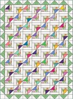 (7) Name: 'Quilting : Newport Fantasy Quilt Pattern