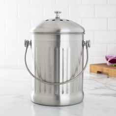 Paderno Stainless Steel Metal Compost Pail