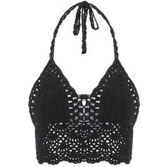 Yoins Black Bralet Top ($10) ❤ liked on Polyvore