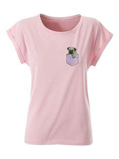 Tričko Lucypug PocketPug Pink