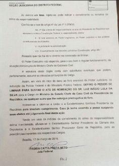 Juiz do DF suspende posse de Lula como ministro