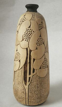 c1910 Weller Burntwood bud vase. #pottery #vases
