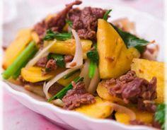 Chế biến thịt bò xào dứa với 3 bước đơn giản - http://congthucmonngon.com/196220/che-bien-thit-bo-xao-dua-voi-3-buoc-don-gian.html