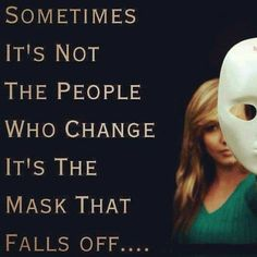 Take off the mask before you decide to hurt people.