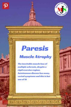 Paresis is a form of muscle wastage or weakness, not uncommon in autoimmune disease like Multiple Sclerosis. This muscle weakness occurs despite regular exercise and frequent activity. Parkinson's Dementia, Fibromyalgia Treatment, Muscle Atrophy, Chronic Fatigue Syndrome Diet, Muscle Weakness, Crps, Relapse, Invisible Illness, Regular Exercise