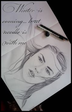 #graphite #grafito #gameofthrones #aryastark Winter is coming but needle is with me...