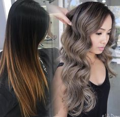 Long Wavy Ash-Brown Balayage - 20 Light Brown Hair Color Ideas for Your New Look - The Trending Hairstyle Balayage Ombré, Brown Hair Balayage, Bronde Hair, Balayage Brunette, Hair Color Balayage, Hair Highlights, Ashy Hair, Haircolor, Hair Color And Cut