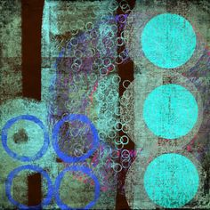 The Old Cells Studio - Michèle Brown Art: Circular Blues - iPad painting
