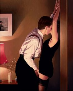 "Jack #Vettriano grew up in the industrial seaside town of Methil, Fife. He left school at 16 and later became an apprentice mining engineer. Vettriano did not take up painting as a hobby until the 1970s, when a girlfriend bought him a set of watercolours for his 21st birthday. His earliest paintings, under his birth name ""Jack Hoggan""."