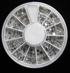 1-Sets Exceptional Popular 3D Nails Art Wheel Glitters Random Mixed Tool Kit Non-Toxic Primer DIY Style Mix Shapes Clear Rhinestones ** Click image to review more details.