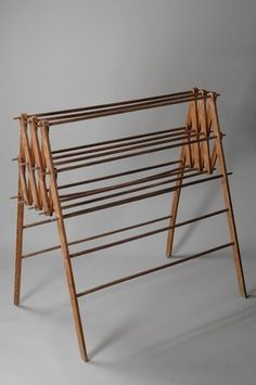 Plywood Furniture, Diy Furniture, Modern Furniture, Furniture Design, Tiny Laundry Rooms, Laundry Room Design, Wooden Clothes Drying Rack, Drying Room, Diy Screen Printing