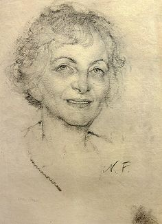Nicolai Fechin, charcoal portrait drawing