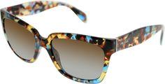 Prada Women'S Gradient  Pr07Ps-Nag0A4-56 Tortoiseshell Square Sunglasses