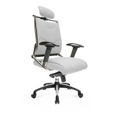White PU Leather Mid Back Executive Office Chair
