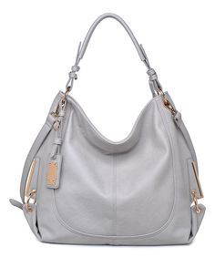 Moda Luxe Gray & Gold Bond Hobo