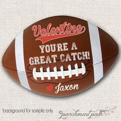Printable Football Valentine 39 S Day Card I Get A Kick Out