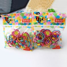 100x Elastic Rope Women Fashion Hair Ties Ponytail Holder Hairbands Head Band