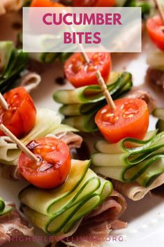 These Cucumber Bites are healthy appetizers that are dairy free, gluten free, and paleo. It's an easy recipe to take your entertaining to the next level, whether that be for a baby shower or the Super Bowl. Use these to get your veggies in! Paleo Appetizers, Appetizers For Party, Appetizer Recipes, Cucumber Appetizers, Prosciutto Appetizer, Appetizers On A Toothpick, Party Snacks, Easy Summer Appetizers, Shrimp Recipes