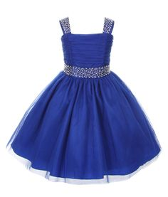 Easter Dresses Sparkling Rhinestone Pageant Flower Girl Dress 2 4 6 8 10 12 14 #CinderellaCouture #FlowerGirlDress