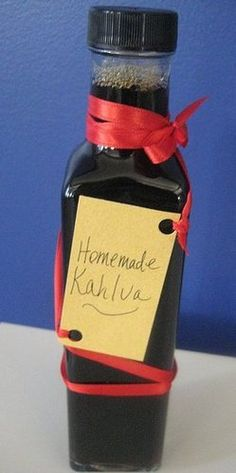 """Homemade Kahlua -- needs to """"stew"""" for 3 weeks -- fun holiday gift idea"""
