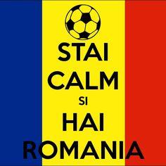 Meci amical Italia - Romania la Bologna. Nationala vine mai aproape de romanii din Italia!   | poster ,,stai calm si hai romania'' fotbal