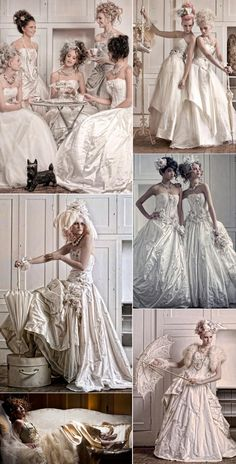 These old fashioned wedding dresses are to die for.