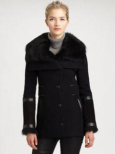 ShopStyle: MackageSheepskin/Lambskin-Trim Jacket