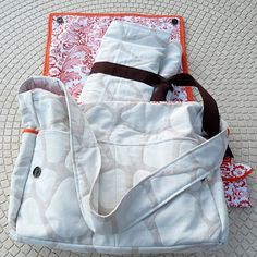 DIY Baby Changing Station (great tutorial, also includes links to tutorials on how to make a cute Diaper Wipes Cover and Diaper Bag!)