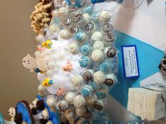Cake pop display for baby shower !