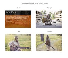 4 Divi Image link hover effects. Download free layouts for your Divi Theme by Elegant Themes on Divi Theme Examples. Free layouts For Divi Theme.