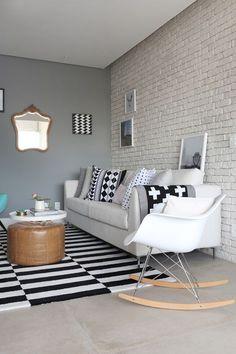 Decoração escandinava amplia apartamento de 60 m²