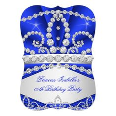 Princess Blue Diamond Tiara Birthday Party