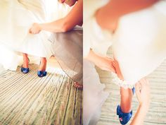 blue wedding shoes? yes please