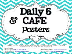 Free! Daily 5 & CAFE Posters - Chevron Background