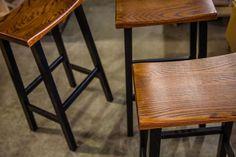 Amish Dutch Backless Barstool