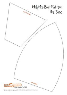 Templates for the cardboard boats. From Blog ikat bag