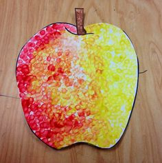 apple art projects for kids September Art, Fall Art Projects, School Art Projects, Apple Art Projects, Kindergarten Art, Preschool Art, Preschool Alphabet, Art For Kids, Stampin Up
