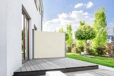 Sichtschutz Balkonfächer Markise Balkonmarkise Seitenmarkise Blau in 3 Größen